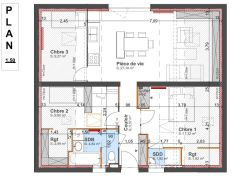 Plan général - 80 m²