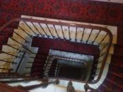 Escalier monumental avec tapis rouge